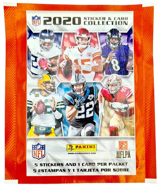 NFL 2020 Sticker & Trading Cards - Tüte