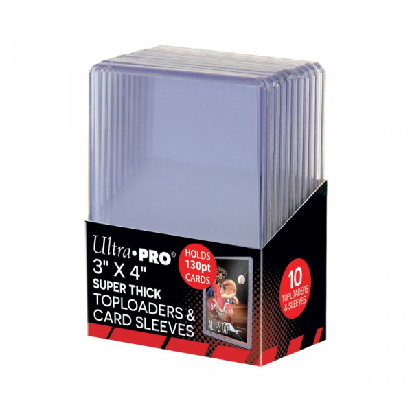 UP Toploader 130pt with Thick Card Sleeves (10 pcs)