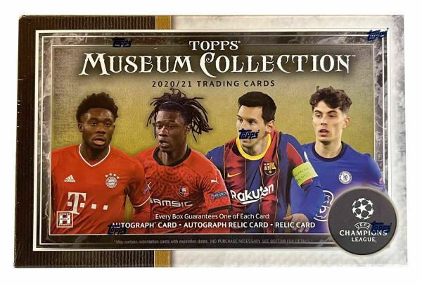 Topps UEFA Champions League 2020/21 Museum Collection Soccer Hobby Box
