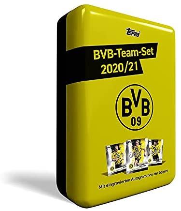 Borussia Dortmund BVB Team Set 2020/21 Sammeldose Autogrammkarten