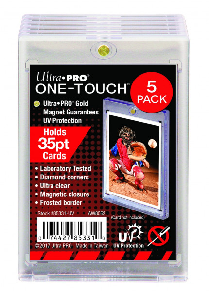 UP One Touch Card Holder 35pt 5-PACK