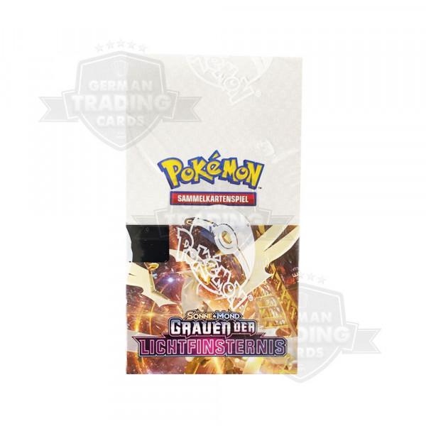 """Pokemon GX 6 Sonne & Mond """"Grauen der Lichtfinsternis"""" 18er Booster Display DE"""