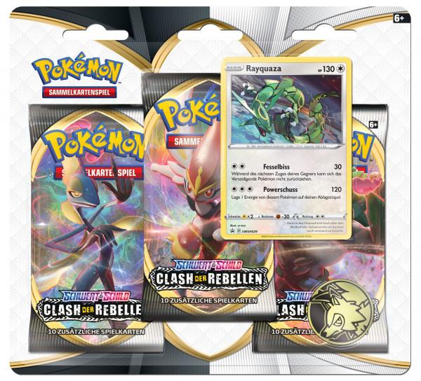 Pokémon Schwert und Schild - 3 Pack Blister Display - DE