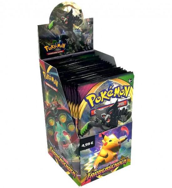 Pokémon Schwert & Schild Farbenschock 18er Booster Display DE