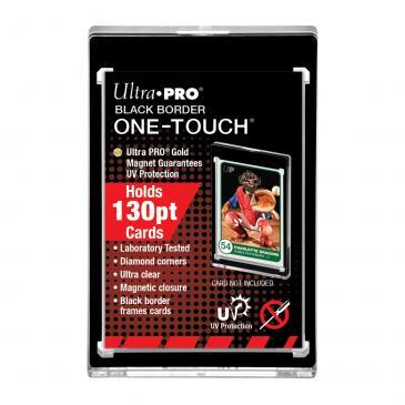 UP One Touch Card Holder 130pt BLACK BORDER