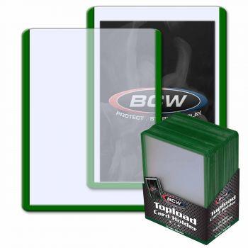 BCW Standard Toploader 35pt (25 pcs) Green Border