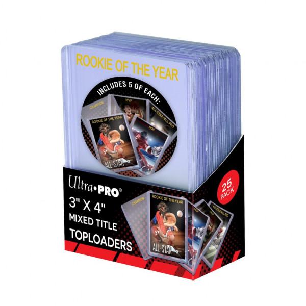 """UP Standard 3""""x4"""" Mixed Title Toploader 35pt (25 pcs)"""
