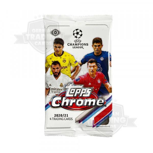 Topps UEFA Champions League Chrome 2020-21 Soccer Hobby Pack