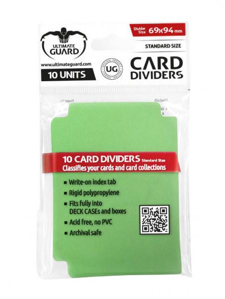Ultimate Guard Card Dividers Green (10 pcs)
