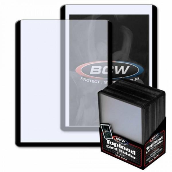 BCW Standard Toploader 35pt (25 pcs) Black Border