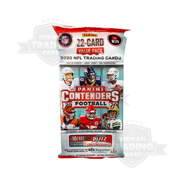 Panini Contenders Football NFL 2020 Value Fat Pack