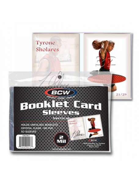 BCW Booklet Card Sleeves vertical (50pcs)