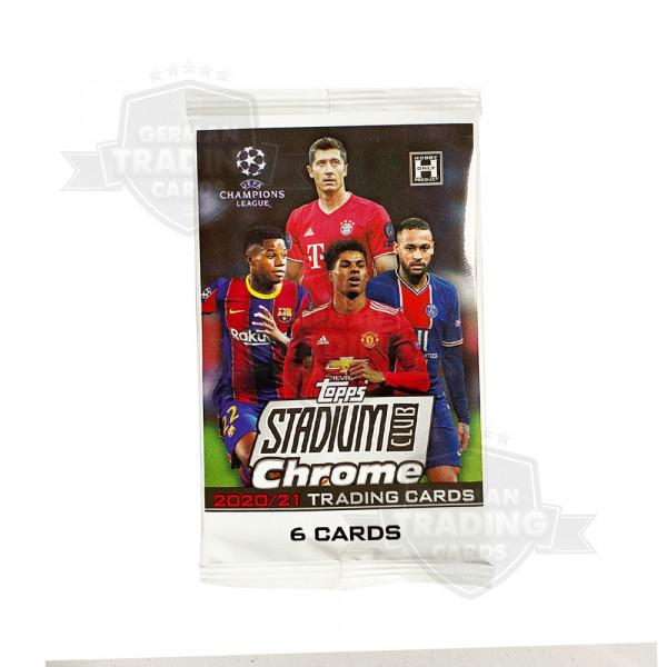 2021 Topps UEFA Champions League Stadium Club Chrome Hobby Pack