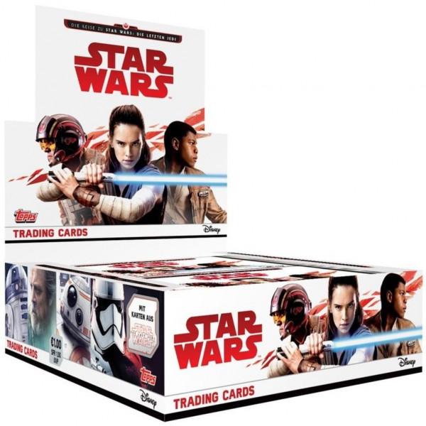 Topps - Die Reise zu Star Wars - Die letzten Jedi - 1 Display (30 Booster)