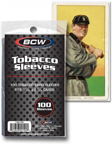 BCW Tobacco Card Sleeves Clear (Mini-Karten)