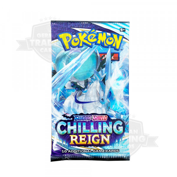 Pokémon Sword and Shield 6 Chilling Reigns Sleeved Booster EN