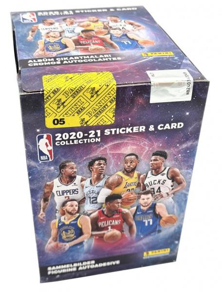 NBA 2020/21 Sticker & Trading Cards – Box inklusive Sammelalbum