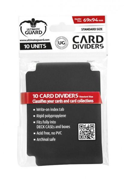 Ultimate Guard Card Dividers Black (10 pcs)