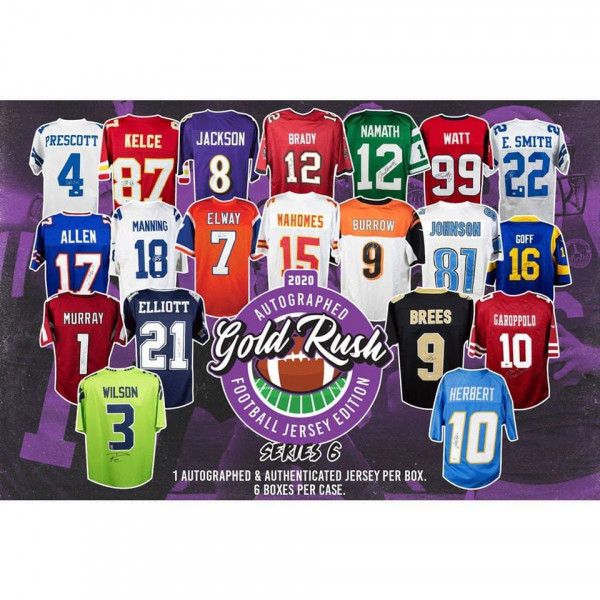 2020 Gold Rush Autographed Football Jersey Edition Series 6 Box