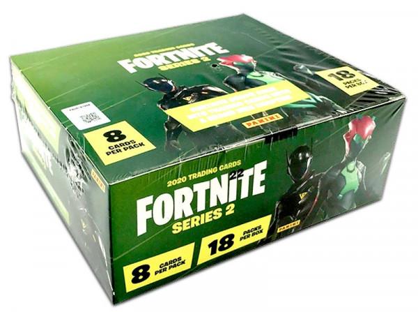 Fortnite Series 2 Trading Cards - Hobby-Box mit 18 Flowpacks