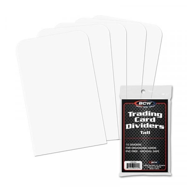 BCW Trading Card Dividers Tall (10 pcs)