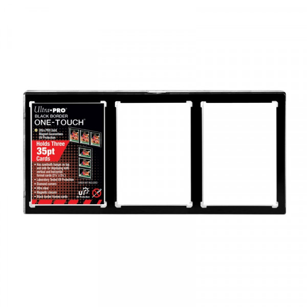 UP 3-Card One Touch Card Holder BLACK BORDER