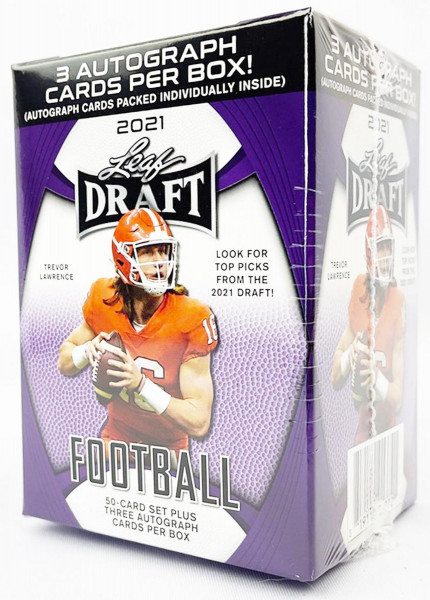 Leaf Draft 2021 Football Blaster Hobby Box