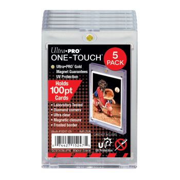 UP One Touch Card Holder 100pt (5-Pack)