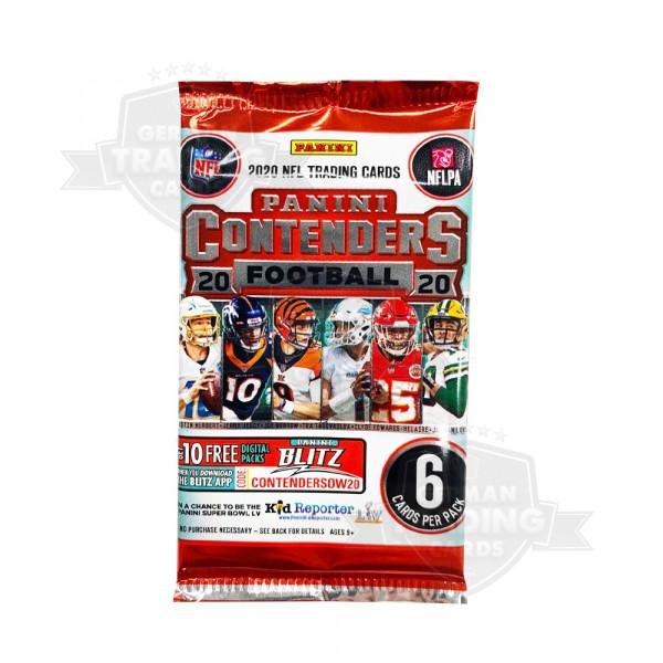 Panini Contenders Football NFL 2020 Hobby Pack