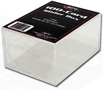 BCW Plastikkasten für 100 Karten, 2-teilig