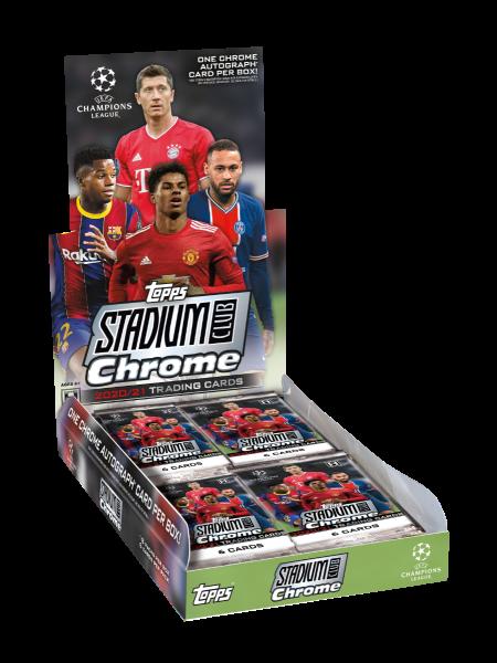 2021 Topps UEFA Champions League Stadium Club Chrome Hobby Box