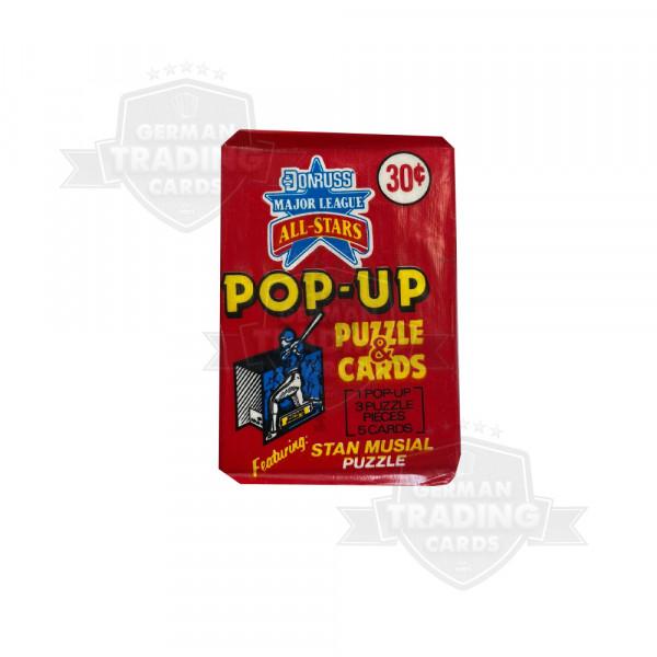 Donruss Major League Pop Up Puzzle and Cards