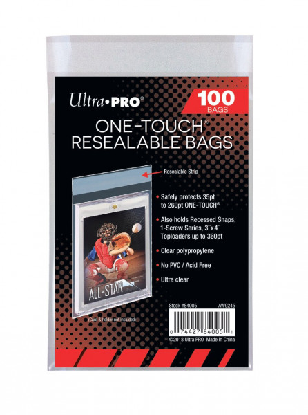 UP One Touch Resealable Bags (100 Bags)