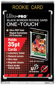 """UP One Touch Card Holder 35pt """"Rookie Card"""" BLACK BORDER"""