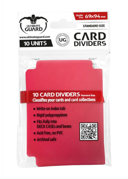 Ultimate Guard Card Dividers Red (10 pcs)