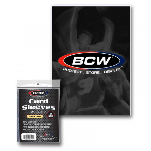 BCW Thick Card Soft Sleeves 130pt (100 pcs)