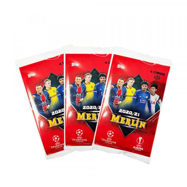 Topps Merlin Chrome 20/21 UEFA Champions League Hobby 3er Pack