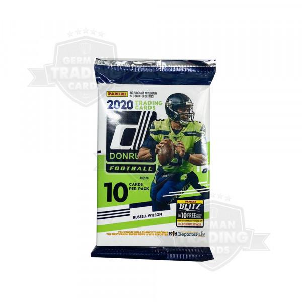 Panini 2020 Donruss Football NFL Hobby Pack